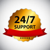 Vector 24-7 SUPPORT Sign, Label Template — Vecteur