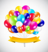 Conjunto de globos de colores, ilustración vectorial. — Vector de stock