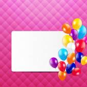 Colored Balloons Background, Vector Illustration. — Stock Vector