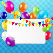 Colored Balloons Background, Vector Illustration. — Vector de stock