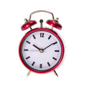 Red Alarm Clock. Isolated — Stock Photo