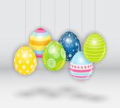 Beautiful Easter Egg Background Vector Illustration — Stock Vector