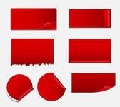 Satılık etiket, Banner şablon vektör çizim ayarla — Stok Vektör