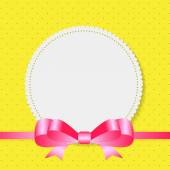 Vintage Frame with Bow  Background. Vector Illustration. — Stock Vector
