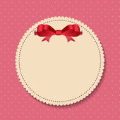 Vintage Frame with Bow  Background. Vector Illustration — Stock Vector