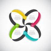 Infographic Design elementen voor uw bedrijf Vector Illustratio — Stockvector