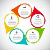 Infographic designelement för ditt företag vektor Illustration — Stockvektor