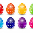 Beautiful Easter Egg Set Vector Illustration — Stock Vector #69588651