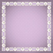 Vintage Pearl Frame Background. Vector Illustration — Vettoriale Stock
