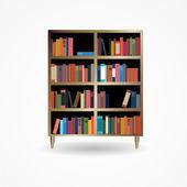 Estante com livros Icon ilustração em vetor — Vetor de Stock