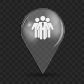 Social Network  Glossy Icon Vector Illustration — Stock Vector