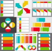 Big Set of Infographic Banner Templates for Your Business Vector — Stock Vector