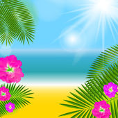 Sommaren naturliga bakgrund vektor illustration — Stockvektor