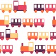 Childrens Train Seamless Pattern Vector Illustration — Stock Vector #72941593
