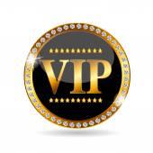 VIP Members Label Vector Illustration — Stock Vector
