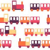 Childrens Train Seamless Pattern Vector Illustration — Stockvektor