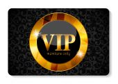 VIP Members Card Vector Illustration — Stock Vector