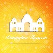 Background for Muslim Community Festival Vector Illustration — Stock Vector