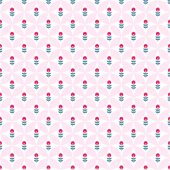 Paper Trendy Flat Flower Seamless Pattern Vector Illustration — Stock vektor