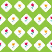 Paper Trendy Flat Flower Seamless Pattern Vector Illustration — Stock Vector