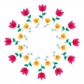 Abstract Colorful Background with Flowers. Vector Illustration — Stock Vector