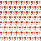 Μοντέρνα επίπεδη λουλούδι χαρτί χωρίς ραφή πρότυπο εικονογράφηση φορέας — Διανυσματικό Αρχείο