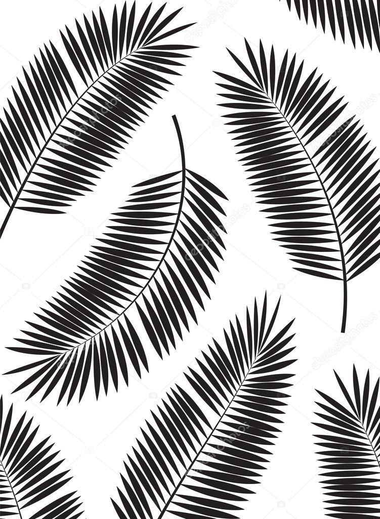 棕榈叶矢量帧背景图