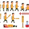Vector collection of pixel art style person — Stock Vector #53259645