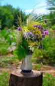 Bouquet of summer flowers — Stockfoto