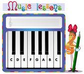 Музыкальные задачи — Cтоковый вектор
