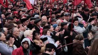 DONETSK anniversary of the socialist revolution — Stock Video