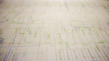 Blueprints background — Stock Video