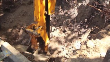 Excavator tractor — Stock Video