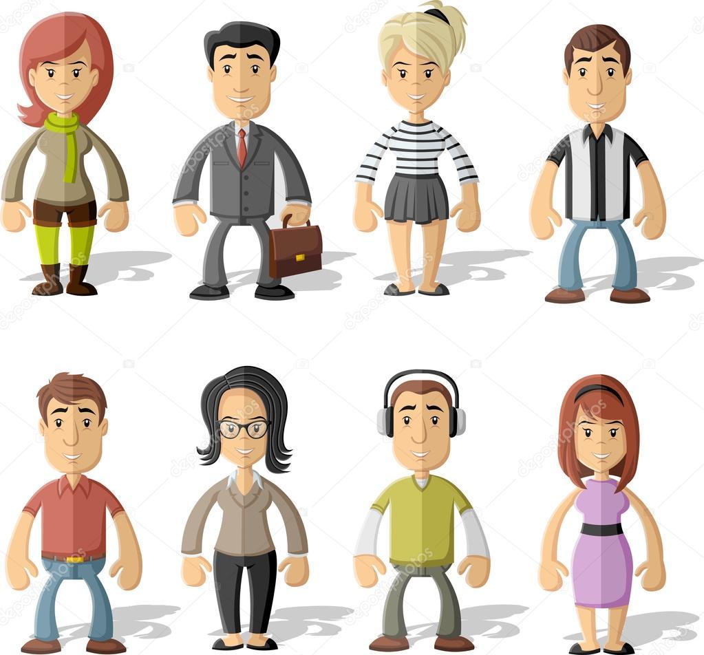Grupo de dibujos animados personas archivo im genes - Imagenes de gente mala onda ...