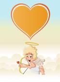 Cupid angel — Stock Vector
