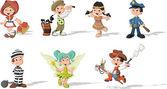 Group of cartoon kids — Stock Vector