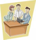 Cartoon business people — Stock Vector