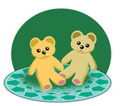 Two little Teddy Bears — Stock Photo