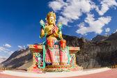 The Buddha statue in Nubra valley — Stock Photo