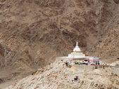 Shanti Stupa at Leh — Stock Photo