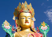 The head of Buddha statue in Nubra valley — Stock Photo