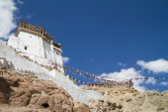 Namgyal Tsemo monastery panorama at sunny day (India) — Stock Photo