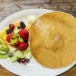 Pancake with fruit — Stock Photo #53468169