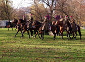 Polish cavalry. — Stock Photo