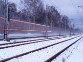 Snow train .. — Stock Photo