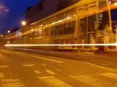 Evening tram. — Stock Photo