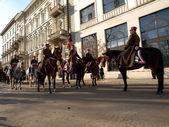 Cavalry drill. — Stock Photo