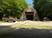 The railway shelter in Konewka. — Stock Photo