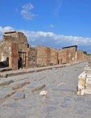 Via della Fortuna street in in ancient Pompeii — Stock Photo