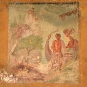 Detail of mural painting in Pompeii — Stock Photo